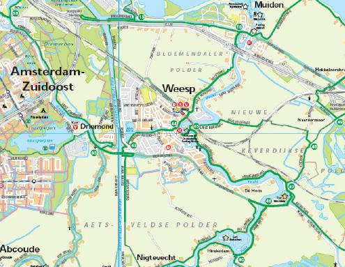 uitsnede uit Stadsregio Amsterdam op de Fiets(oud)