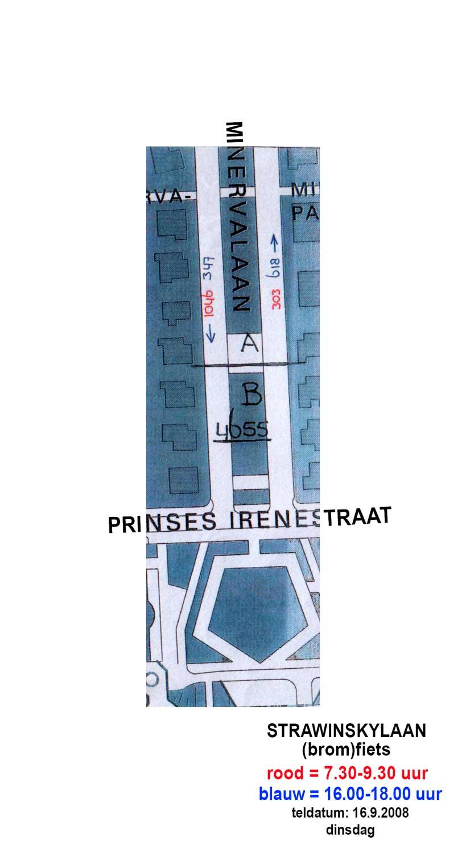 kruising Minervalaan-Prinses Irenestraat