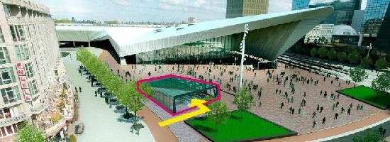 In Rotterdam is de fietsenstalling makkelijk te bereiken, zowel op de fiets als te voet vanuit het station.