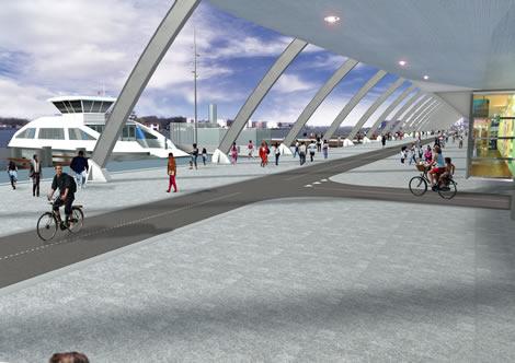 Volgens de vastgestelde plannen komen er veel te smalle fietspaden achter CS